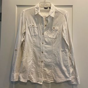 Eddie Bauer ivory flannel button down